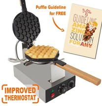 IMPROVED Puffle Waffle Maker Professional Rotated Nonstick | Egg - $79.19+