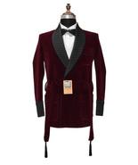 Men Burgundy Smoking Jackets Designer Wedding Party Wear Blazer Coat - $159.99