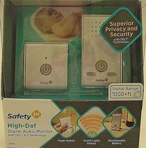 Safety 1st High Definition Digital Audio Baby Monitor 1000+ Foot Range D... - £16.12 GBP