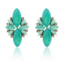 2020 Fashion Elegant Opal Stone Stud Earrings Crystal Earrings for Women... - $7.13