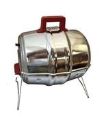 Heavy gauge steel Keg-a-Que Portable Charcoal Grill Fold up legs Heat re... - $89.88