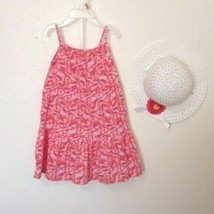 Carters Girls 12 Mo. Floral Tiered Long Sundress + Bonnet  NWT - $12.99
