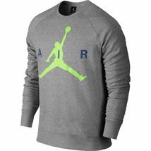 Air Jordan Jumpman Graphic Brushed Crew Mens' Sweatshirt Black-Red 68901... - $66.95