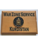 Central Intelligence Agency War Zone Service Kurdistan Beveled Edge Wall... - $49.49