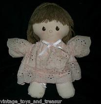 """11"""" Vintage 1984 Applause Jerez Baby Doll Rosa Vestido Peluche Juguete d... - $30.73"""