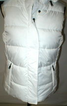 New NWT Womens S Banana Republic Faux Fur Hooded Vest White Removeable Sherpa image 3