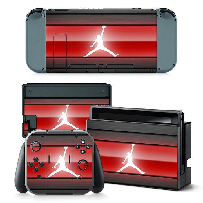 Nintendo Switch Air Jordan Console & Joy-Con Controller Decal Vinyl Skin Sticker