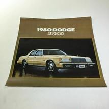 1980 Dodge St. Regis 225 Slant Six Standard V-8 Engine Options Car Brochure - $7.09