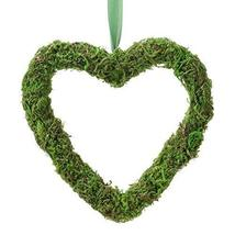 "Lillian Rose DE605 Dcor 5"" Green Moss Hanging Heart Wedding Decor - $7.71"