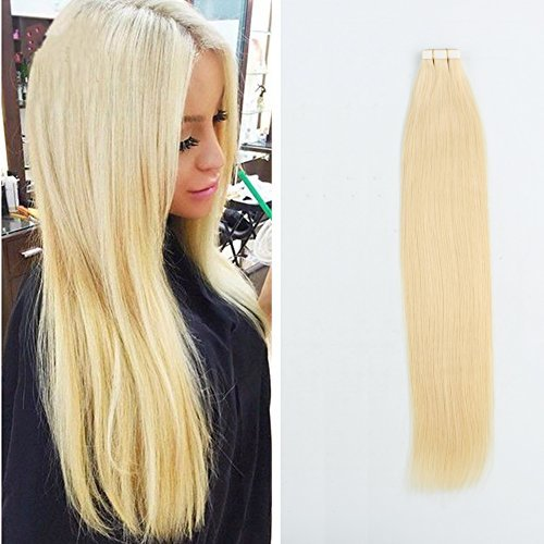 Sassina Beautiful Blonde 613 8A Grade Remy Tape on Hair Extensions Semi-permanen