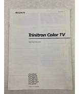 Sony Trinitron Color TV Operating Instructions KV Models 1994 - $14.03