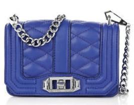 Rebecca Minkoff Quilted Mini Love Crossbody Bag Leather Cobalt - $122.02