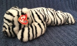 "WHITE TIGER 2000 TY BEANIE BUDDY Retired *NEW* *MINT* 14"" Blizzard Beani... - $11.87"