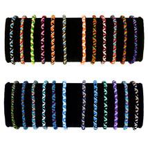 #3736 Acrylic Bracelets Assorted Handmade Friendship 100 Pack Wholesale Lot - $29.24