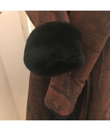 Tarnopol's Beaver Fur Lined Coat Brown With Abstract Color Size Medium V... - $395.00