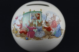 Royal Doulton Round Globe Ball Coin Bank Bunnykins The Puppet Show Theater - $27.72