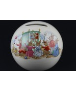 Royal Doulton Round Globe Ball Coin Bank Bunnykins The Puppet Show Theater - $27.72