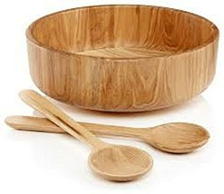 The Hotel Collection Fine Ash Wood Serving Bowl With Utensils - $59.99