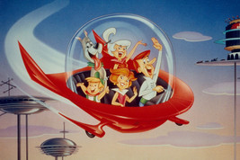 The Jetsons classic artwork George & family in space craft 18x24 Poster - $23.99