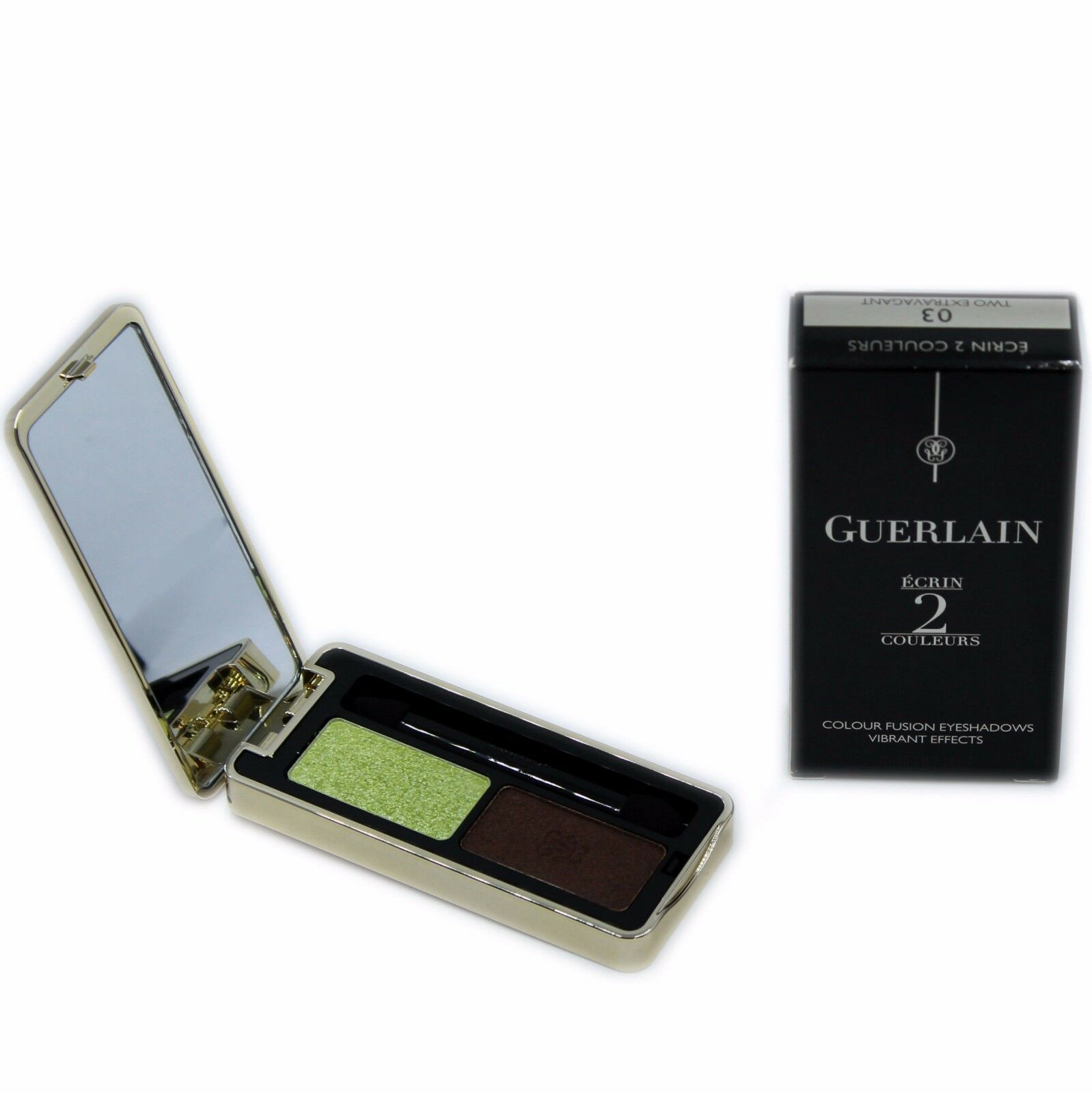 Primary image for GUERLAIN ECRIN 2 COULEURS COLOUR FUSION EYESHADOWS EFFETS VIBRANTS 4G #03-G41389