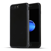 iPhone 7 Plus / 8 Plus Case Jet Black Rubber Shockproof Protective Gloss... - $5.67