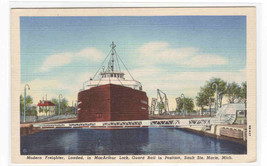 Great Lakes Steamer Freighter MacArthur Lock Sault Ste Marie Michigan po... - $5.94