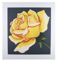 """Yellow Rose"" by Lowell Blair Nesbitt Signed Serigraph AP 28"" x 29"" w/ CoA - $445.50"