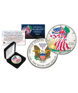 2018 1 oz Colorized 2-Sided American Silver Eagle (BU) with BOX & CERTIF... - £53.81 GBP