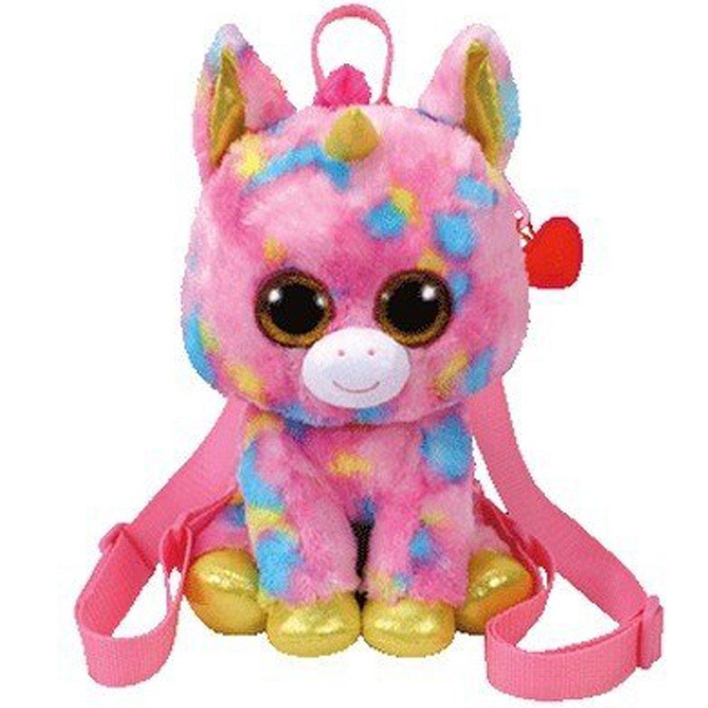 "Pyoopeo Ty Gear Backpack 13"" 33cm Fantasia the Rainbow Unicorn Plush Stuffed Ani"