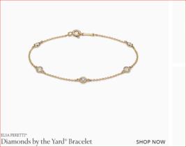 TIFFANY &Co New .40ctw 18K Gold Diamonds By The Yard Bracelet & Pouch Retail $3K - $2,133.99