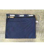 f2d60af386ec1 LeSportsac Blue Nylon Travel Bag Zip Pouch Cosmetic Make Up USA -  14.80