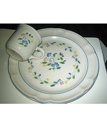 FLORAL EXPRESSIONS STONEWARE  DINNER PLATE  coffee cup Lot - $12.99