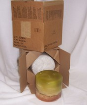 PartyLite 3-Wick 5 x 6 Candle Rare, Retired, Vanilla, Cucumber Mint NEW - $74.95