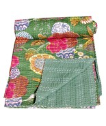 Handmade Quilt Vintage Kantha Bedspread Throw Cotton Blanket Gudari Bed ... - $37.39+