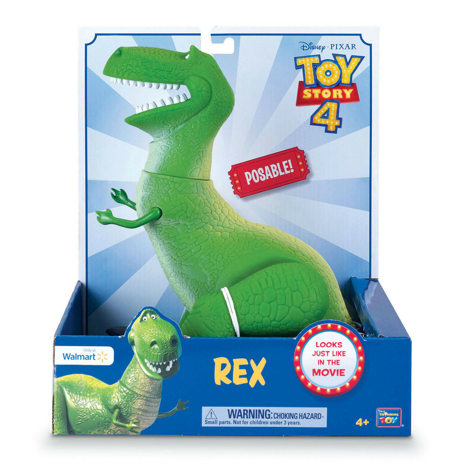 Disney Pixar Toy Story 4 Movie Film Posable Rex The Dinosaur Figurine EXCLUSIVE