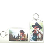 TRUE GRIT ROOSTER COGBURN KEYCHAIN KEY CHAIN JOHN WAYNE DUKE KEY RING MARSHALL  - €7,37 EUR