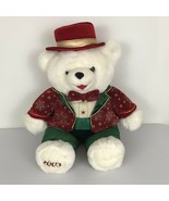 """2003 Christmas Snowflake Teddy White 22"""" Boy Teddy Bear Red & Green Outfit - $19.25"""