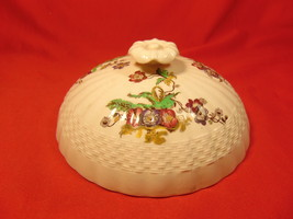 """5 7/8"""" Lid for Round Butter Dish, by Spode, Wicker Lane, Basket Weave Pattern. - $17.99"""