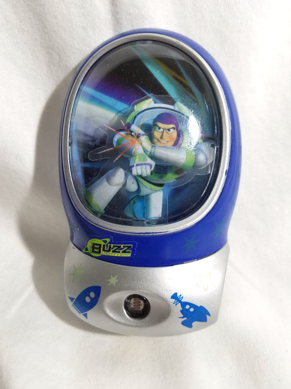 2009 Buzz LightYear 3-D Night Light-Light Sensor