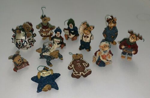 Lot of 12 Boyds Bears & Friends Christmas Holiday Ornaments