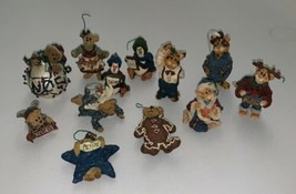 Lot of 12 Boyds Bears & Friends Christmas Holiday Ornaments - $82.24
