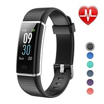 LETSCOM Fitness Tracker, Heart Rate Monitor Watch with Color Screen, IP68 - $51.33