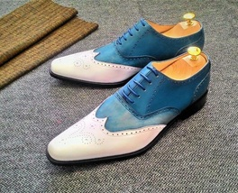 Style Wing Tip Brogues Multi Color Genuine Leather Excelling Luxury Wear... - $139.99+