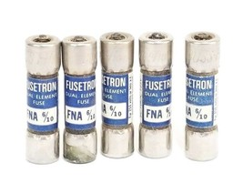 LOT OF 5 BUSSMANN FNA-6/10 FUSETRON DUAL ELEMENT FUSES