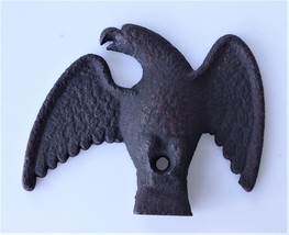 """vintage cast iron AMERICAN EAGLE standing decoration ornament 6"""" emblem - $42.50"""