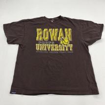 Rowan University Profs T Shirt Men's 2XL Short Sleeve Brown Regular Fit ... - $17.99