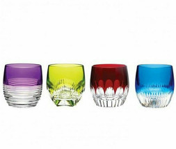 Waterford MIXOLOGY Assorted Color Tumbler Set 4 Glasses DOF # 160453 New - $293.68