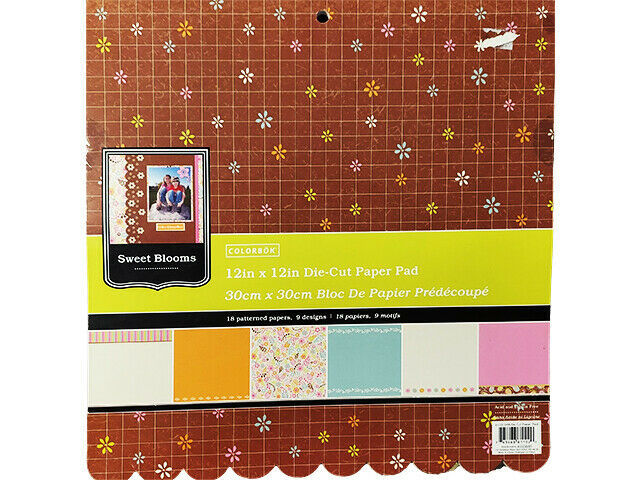 Colorbok Sweet Blooms Scalloped Edge 12x12 Cardstock Paper Pad