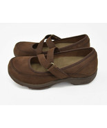 Dansko Women's Sz 40 US 9.5-10 Brown Suede Mary Jane Loop Strap Slip On ... - $29.95