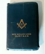 Masonic Bible New Holland Lodge NO 392 F & A M 1940s A J Holman Freemason - $74.25